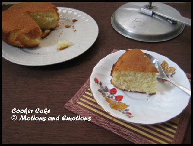 Cooker cake / Vanilla Cake in Pressure Cooker