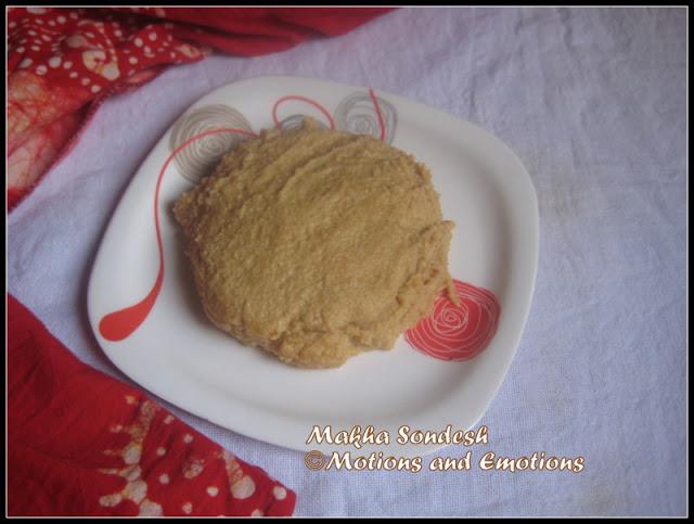 Nalen gurer Makha Sandesh/ Date Palm Jaggery Cheese Sweet