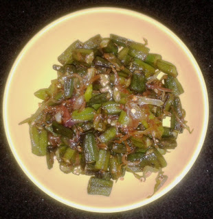 Chilli Lady Finger / Okra in Soya sauce / Bhindi Stir-fry with sauce