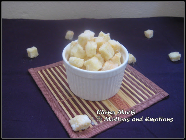 Chena r Murki / Paneer Cubes Coated with Sugary Crust