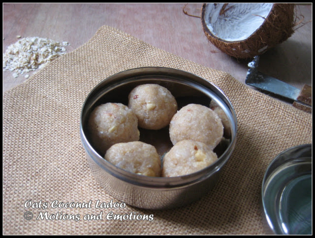 Oats Coconut Ladoo
