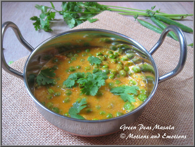 Green Peas Masala Recipe / Restaurant style Peas Masala Recipe / How to make Peas Masala