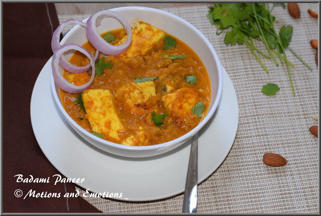 Badami Paneer / Paneer in Almond Gravy