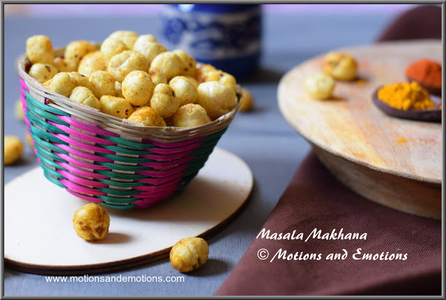 Masala Makhana or Spicy Foxnuts