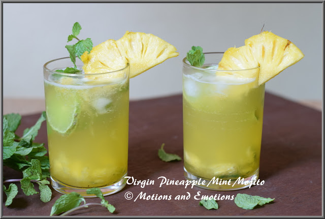 Virgin Pineapple Mint Mojito
