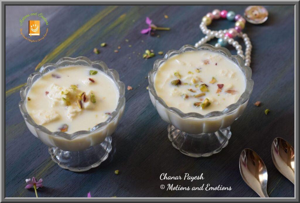 Chanar payesh served in two dessert bowls